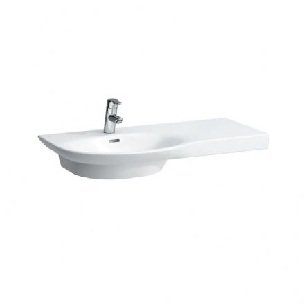 816702 - Laufen Palace 900mm x 460mm Washbasin (Right Shelf) - 8.1670.2